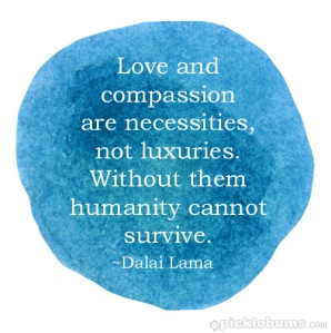 Love and compassion quote from Dalai Lama