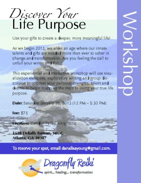 Discover Your Life Purpose Workshop – Jan26